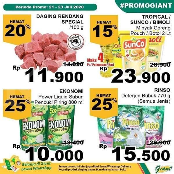 Katalog Promo Giant Terbaru 21 23 Juli 2020 Harga Lebih Murah Kontan Co Id Line Today