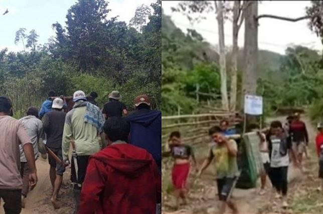 Digotong Sejauh 15 Kilometer, Jenazah di Sulawesi Barat Ini Ditandu dalam Sarung dan Bambu untuk Dimakamkan