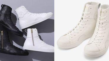 日本Converse新推出ALL STAR皮革高筒鞋!細緻皮革面料搭配金色拉鍊,質感滿分必須入手