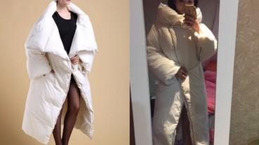 淘寶 oversize 羽絨外套如大棉被 買家評價:時尚、出門被說像王菲