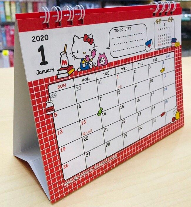 大賀屋 日本製 HELLO KITTY 年曆 2020 月曆 掛曆 日曆 行事曆 記事 KT 正版 J00017583。人氣店家大賀屋的三麗鷗、凱蒂貓 Hello Kitty有最棒的商品。快到日本NO