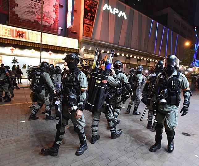 警方昨晚至今日凌晨在旺角展開清場行動。資料圖片