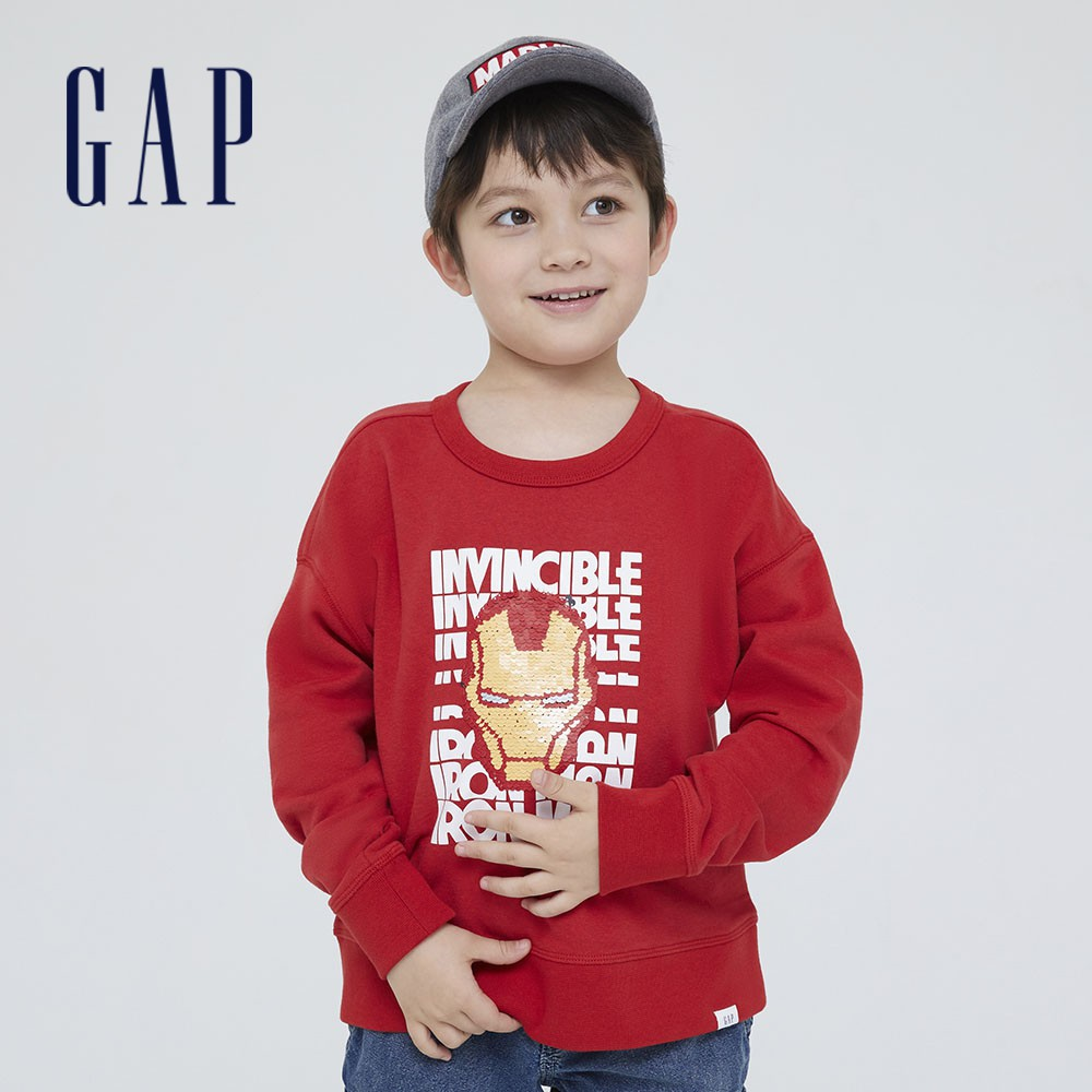 Gap 男童 Gap x Marvel 漫威系列翻轉亮片休閒上衣 681501-紅色商品材質:棉77%,聚酯纖維23%,不包括裝飾部分洗滌說明:洗滌前請繫上拉鍊或鈕扣,洗滌時使用洗衣袋,請與相似色衣物
