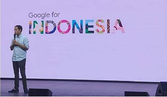 Mendikbud Nadiem Makarim dalam acara Google for Indonesia di Jakata, Rabu, 20 November 2019. (Tempo/Khory)