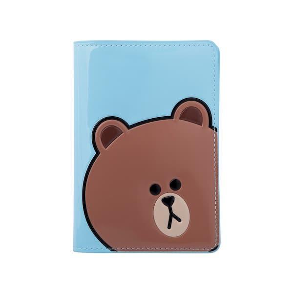 熊大 亮面立體造型護照套
