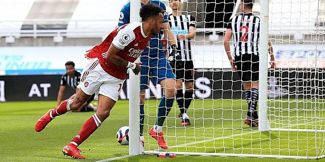 Pemain Arsenal, Pierre-Emerick Aubameyang. (c) AP Photo
