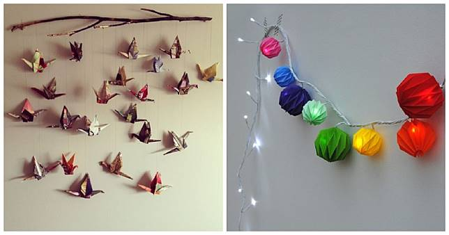 Berbekal Rp 50 Ribu Hias Kamar Kos Dengan Kertas Origami