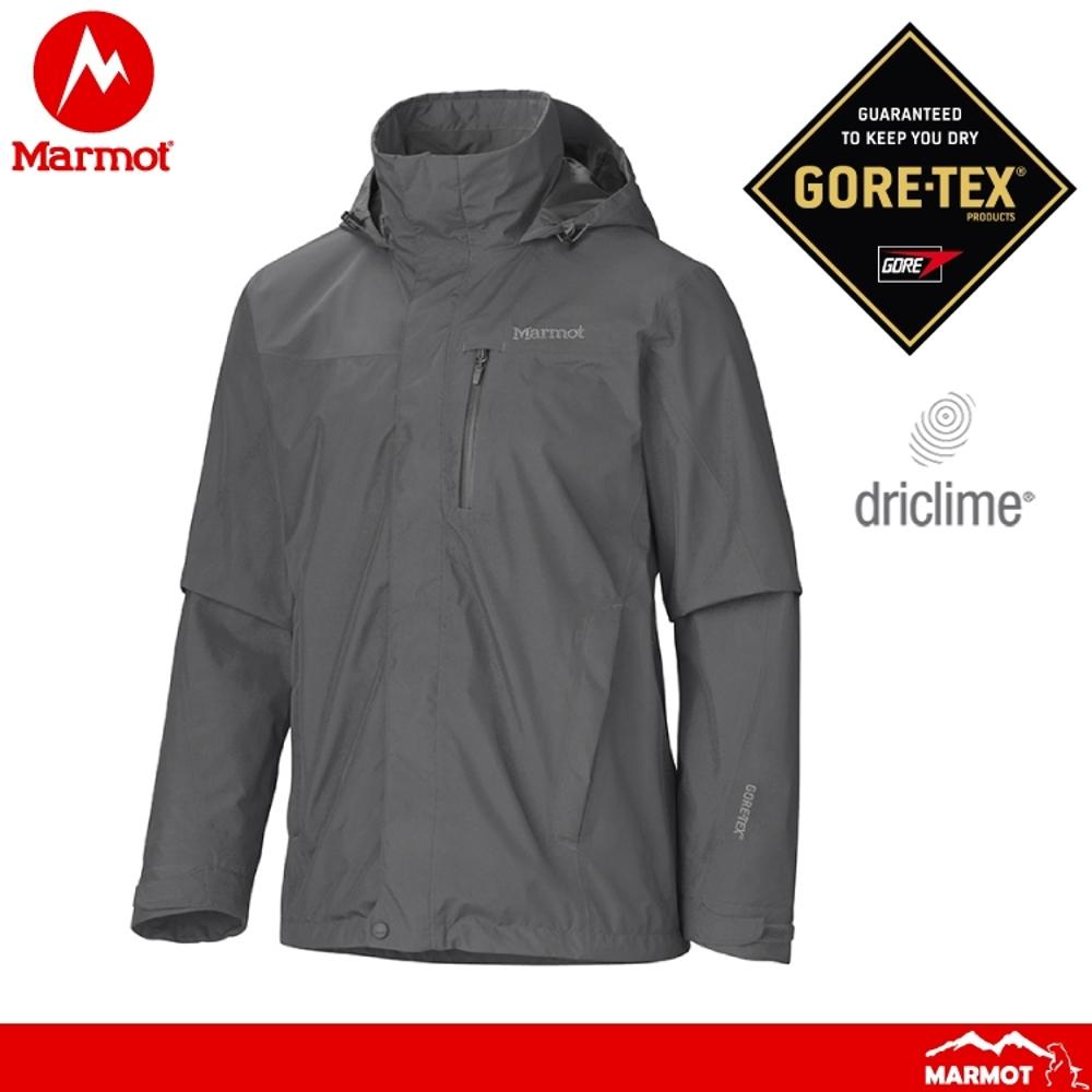 【Marmot 美國 男 Ridgerock防水透氣外套《灰》】306601415/GORE-TEX/防風/耐用/透氣