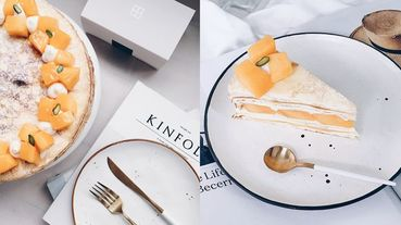 芒果季報到!中山區最紅千層蛋糕店《時飴》率先推出「愛文芒果千層」~每一層內餡都是滿滿芒果香!
