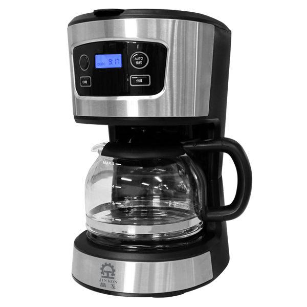 微電腦控制24小時預約咖啡製作 咖啡製作完成蜂鳴音提示 可拆洗濾網漏斗及耐高溫玻璃杯