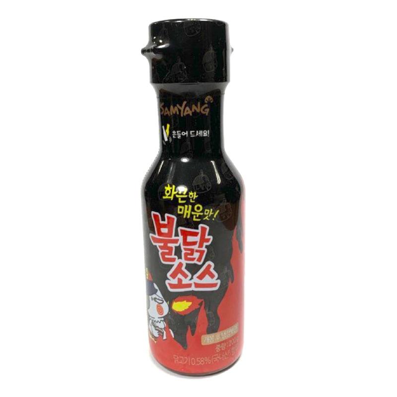 產品: 韓國辣雞醬料 容量: 200g/瓶 保存期限:10個月 產地: 韓國 成份: 澱粉糖漿、糯米調味醬、小麥粉、紅椒粉、鹽、小麥、純水、紅椒粉 來源:平行輸入 過敏源資訊:辣椒 注意事項: 辣雞辣
