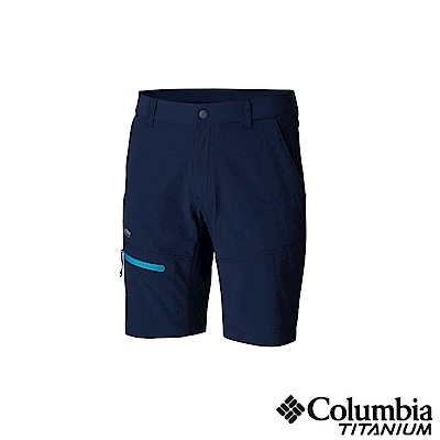 Columbia 哥倫比亞男款-鈦UPF50極輕量防潑短褲-深藍UAM06860NY