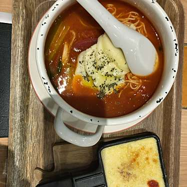 実際訪問したユーザーが直接撮影して投稿した西新宿ラーメン専門店太陽のトマト麺withチーズ 新宿ミロード店の写真