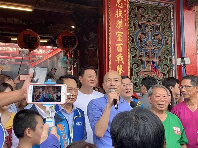 韓國瑜至新竹市關帝廟