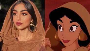 國外流行起「現實的我 vs 動畫的我」挑戰,民間正妹神似迪士尼公主引起暴動!