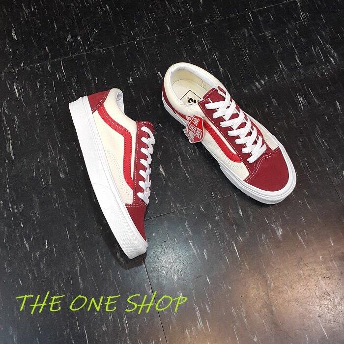 VANS Style 36 Old Skool 紅色 紅線 米白色 白色 帆布鞋 板鞋 經典款 VN0A3DZ3VXZ