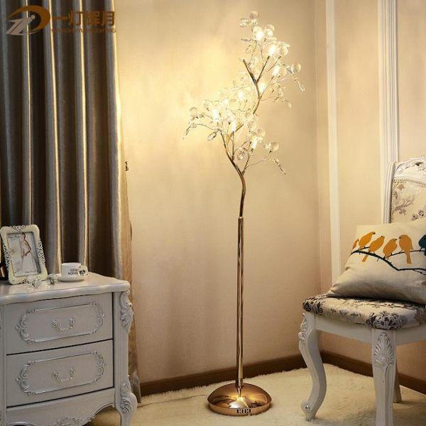 歐式客廳led水晶落地燈創意個性設計師后現代大氣景觀茶幾落地燈 DF玫瑰