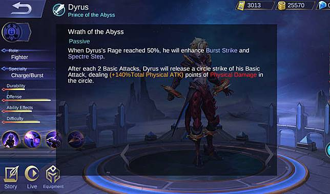 Mobile Legends Dyrroth Sang Pangeran Dari Negeri Kegelapan