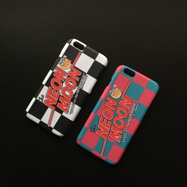 IAMSHOP新品自制韓國neon moon同款棋盤iphone6s7plus8手機殼硬殼