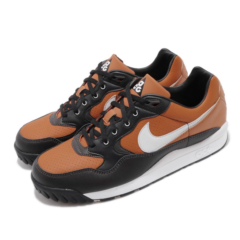 NIKE 休閒鞋 Air Wildwood 運動 男鞋 ACG 戶外 皮革 質感 球鞋 穿搭 棕 灰 [AO3116-800]
