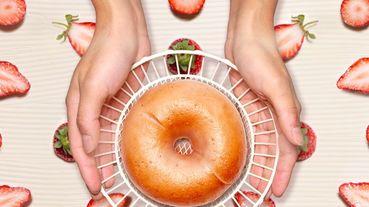 貝果控新口味來囉!《好丘》2020最狂改版推出7款超誘人貝果~大推草莓奶香、花生可可每一口都濃郁!