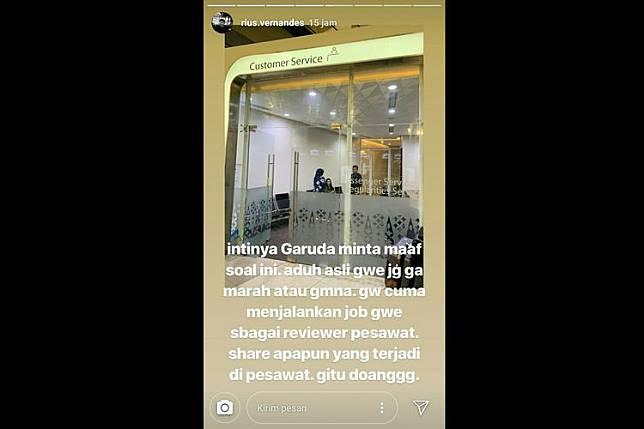 Screenshot Instagram @rius.vernandes