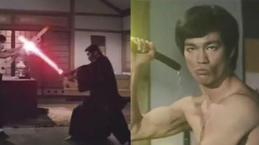 李小龍《精武門》經典對戰影片橋段星戰版本,光劍雙截棍讓人驚呼!