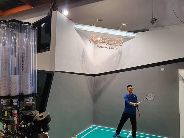 「一哥」周天成擔任未來科技展「精準運動」特別嘉賓。記者林宋以情/攝影