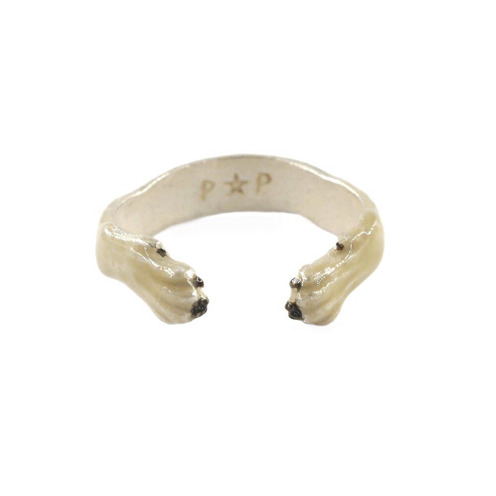 〔APM飾品〕日本Palnart poc 甜蜜環抱狼犬萌爪戒指