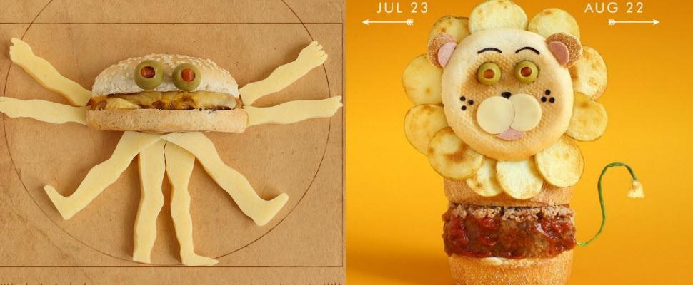 生活處處有藝術,看了讓你尖叫聲連連的漢堡!