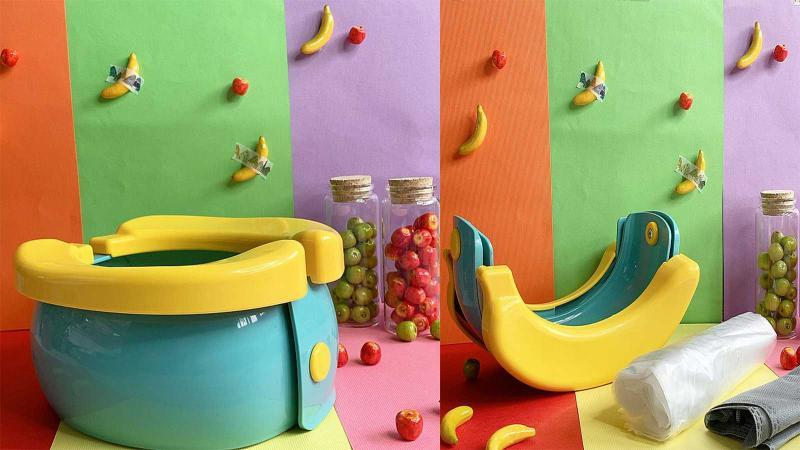 解決帶寶貝出門的困擾~香蕉造型兒童小馬桶