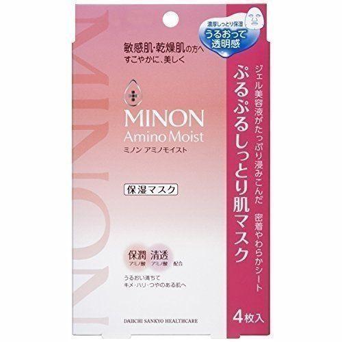 ●魅力十足● 日本 MINON 保濕面膜(4片入)