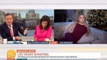 瑪麗亞凱莉接受採訪恐攻案,發福身材搭配半躺姿勢讓網友傻眼了...