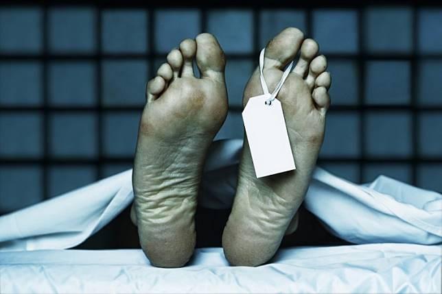 Dead body illustration.