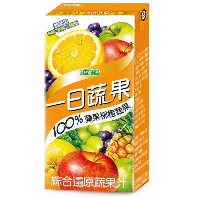 100%蔬果汁製成,堅持100%原汁原味,無添加砂糖/色素/防腐劑,成分安心又實在。蔬菜與水果的完美比例,以蘋果柳橙為主味,並加入多種蔬菜水果做調配,完美的蔬果比例,好喝不甜膩,讓蔬果攝取更加美味。最