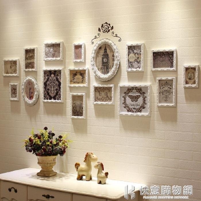照片牆森圖亞相片牆創意歐式照片牆相框實木客廳臥室不規則掛牆組合