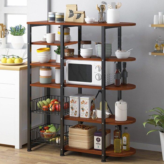 微波爐架 收納架 烤箱架 廚房家電收納 餐具碗盤收納 廚房雜物收納 儲物架