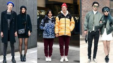 【放閃特輯】看看我跟閃光寒流怎麼穿?首爾「厚重情侶裝」甜蜜街拍!