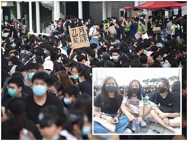 莊同學(小圖左一)表示,這場抗爭不是開學就玩完,讀書不是「大晒」。