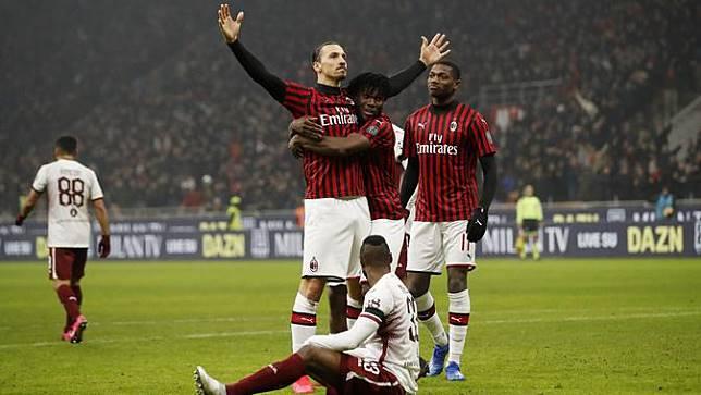 Bantai Torino 4-2, AC Milan Rebut Tiket Semifinal Coppa Italia