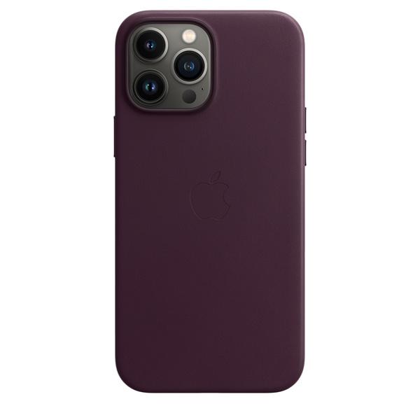 iPhone 13 Pro Max MagSafe 皮革保護殼 - 暗櫻桃色