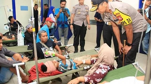 Korban kecelakaan maut Tol Cipali. (Antara)