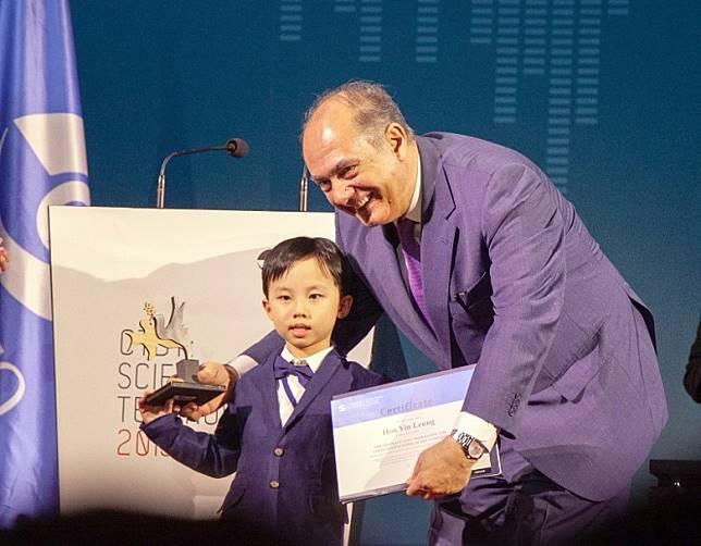 梁衎然於「聯合國和平繪畫比賽」奪得初級組全球冠軍。(創意學堂提供)