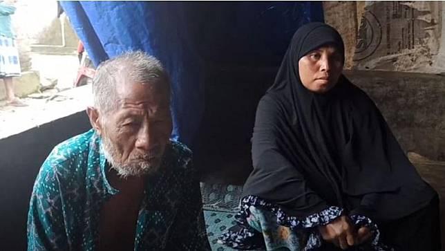 Almarhum Husen (60) dan istrinya Rukyah (45). (Foto: iNews/Ramli Nurawang)