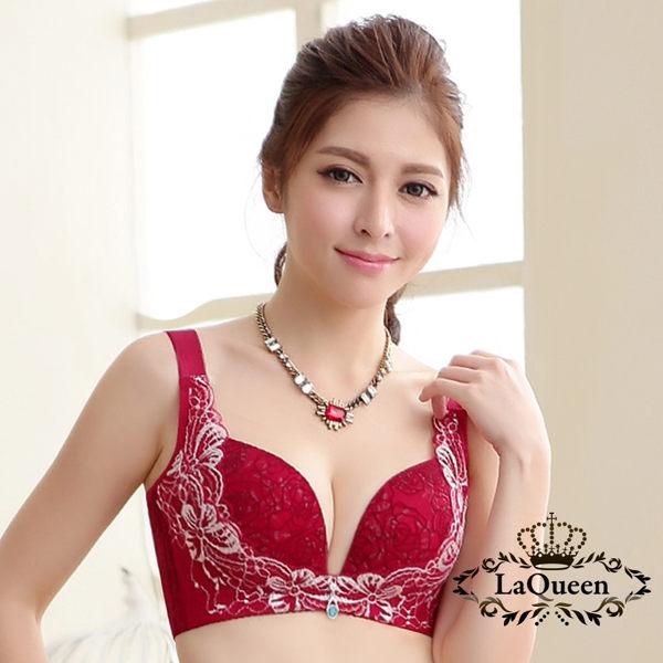 法式蕾絲搭配雙色植絨提花 氣質滿分n側壓提托帶設計~加強胸部側壓