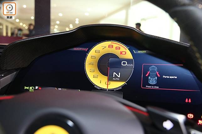 首次採用16吋數碼化儀錶板,所呈現的行車資訊會於不少同駕駛模式時,而有所不同。(張錦昌攝)
