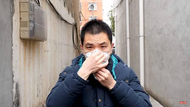 ▲中國大陸網紅「好奇五先生」家鄉就在湖北,他也於 26 日拍片透露封城狀況。(圖/翻攝好奇五先生 Youtube )