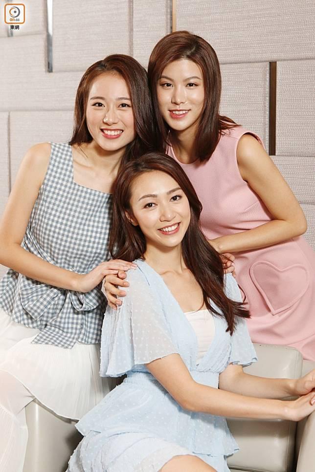 三女皆希望將來加入劇組拍劇。