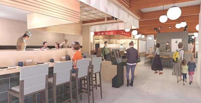 豐洲場下町預計將有10間餐廳進駐,可品嘗市場新鮮食材製作的海鮮燒烤、壽司和海鮮丼等美食。(互聯網)
