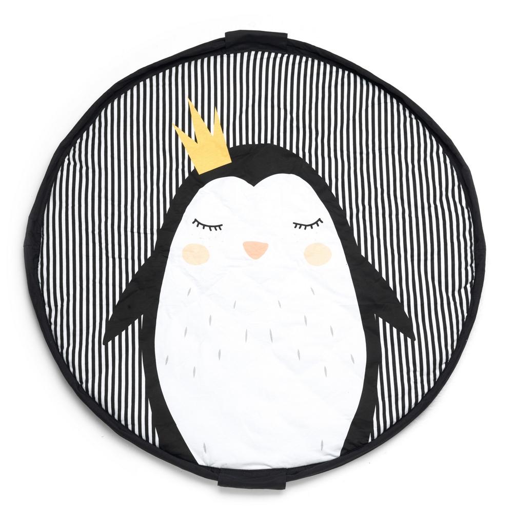 比利時Play&Go 柔棉系列玩具整理袋 - 皇冠企鵝(好窩生活節)